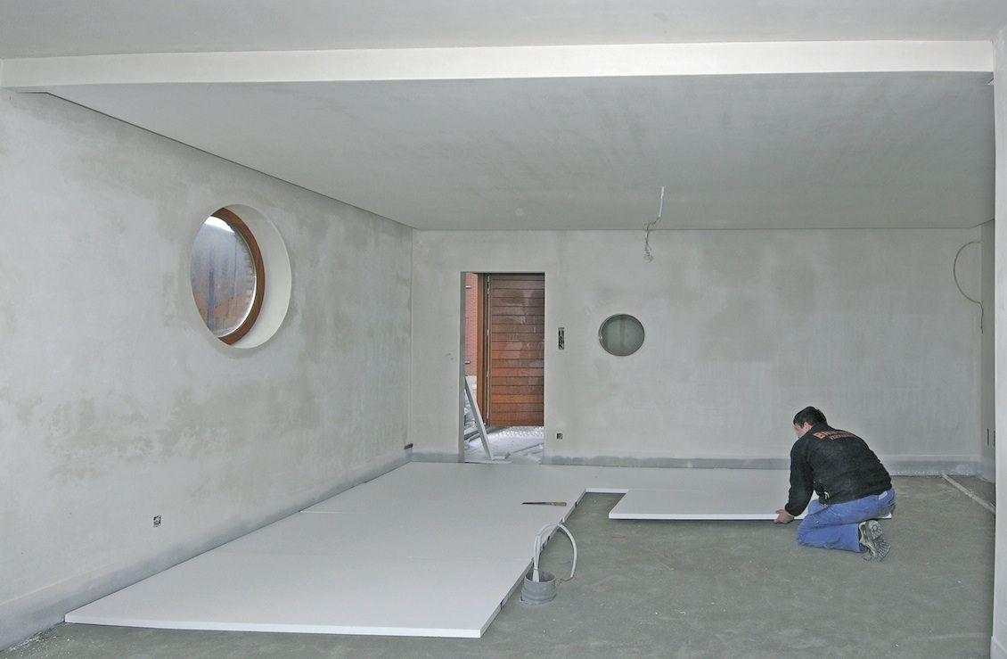 ECO-systeem vloerverwarming - Briotherm - Vloeropbouw stap 1